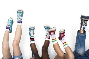 Children Legs Shoes Sneakers (PNG)