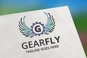 Gear Fly (Letter G) Logo