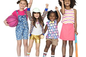 Children Girl Smile Friendship (PNG)