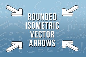 Isometric Rounded Vector  Arrows