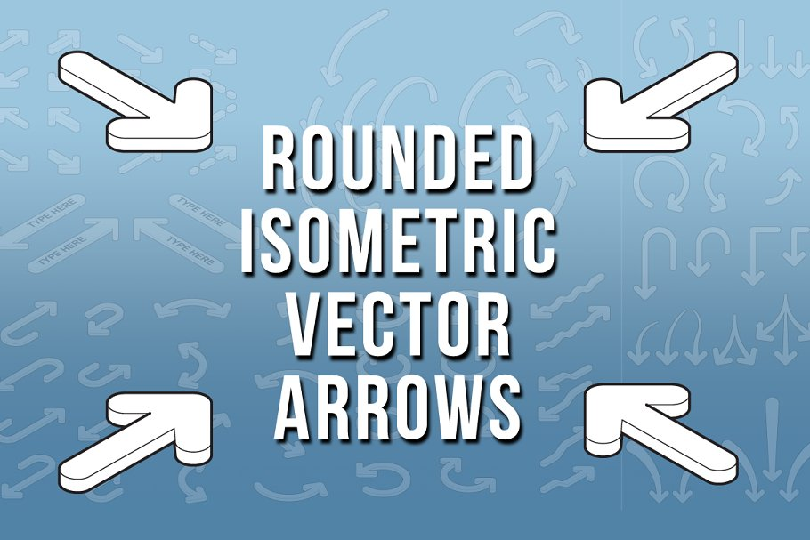 99ec2ceee2 Isometric Rounded Vector Arrows ~ Graphic Objects ~ Creative Market