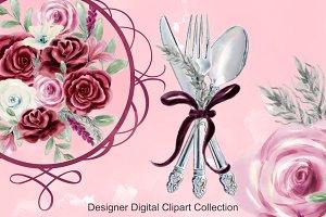 Watercolor Silverware