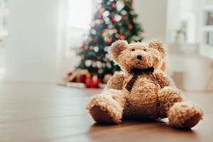 Teddy bear as Christmas gift