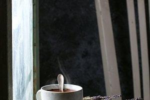 A mug of hot chocolate