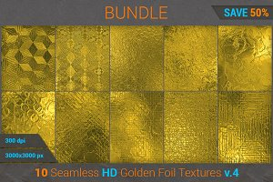 Golden Foil HD Texture Bundle (v 4)