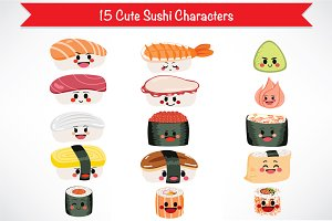 Sushi Food Cute Character