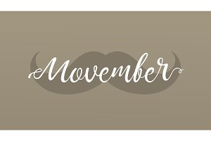 Movember cancer awareness event banner.