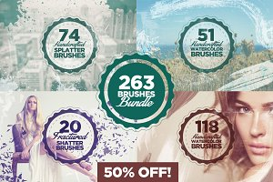 263 Brushes Bundle - 50% OFF!
