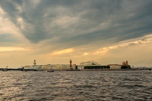 Waterfront and canals in St Petersburg, Russia