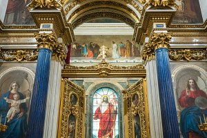 Altar doors of St Isaac's Cathedral Russia