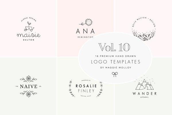 Feminine Premade Logo Bundle Vol. 1…