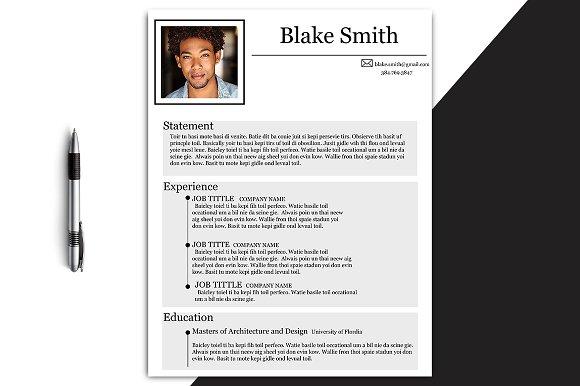 Modern Blake Resume