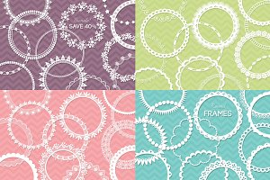 48 Round Lace Frames Bundle Save 40%
