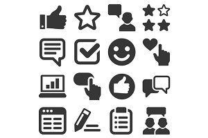 Customer Reviews and Feedback Icons
