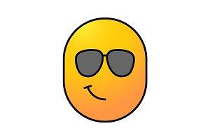 Cool smile color icon