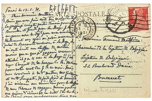 used handwritten postcard