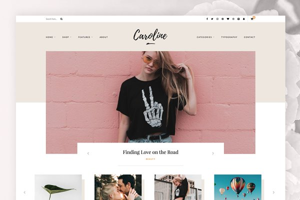 WordPress Blog Themes: CityHouseDesign - Caroline - A Wordpress Blog Theme