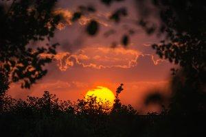 Sun on sunset