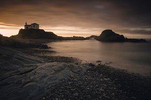 Seascape at twilight