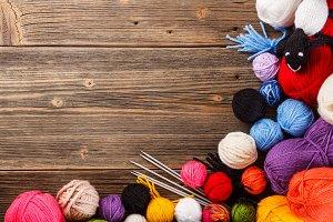 Color yarn ball