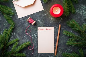 Letter with text Dear Santa