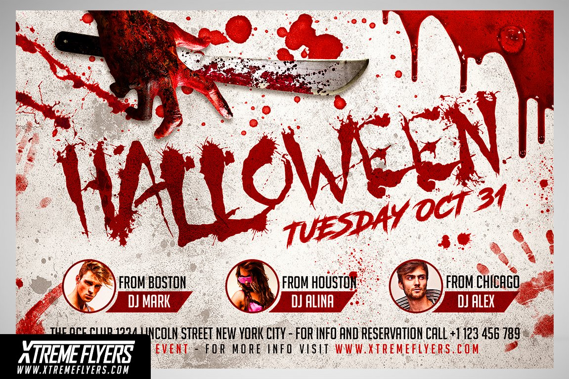 halloween flyer template flyer templates creative market