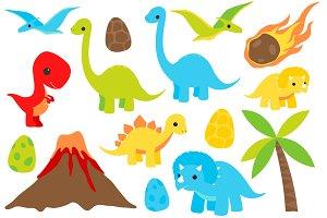 Dinosaur Clip Art Set