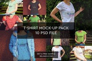 T-Shirt Mock-up 10 PSD Pack