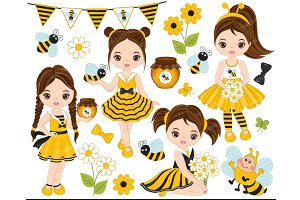 Vector Bee Clipart
