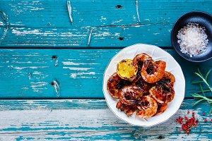 Grilled Prawns Shrimps