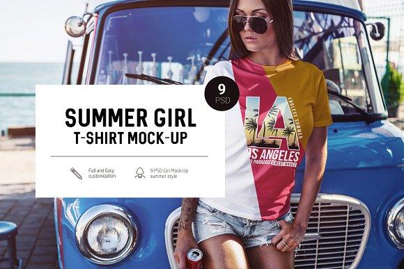 Download Summer Girl T-Shirt Mock-Up