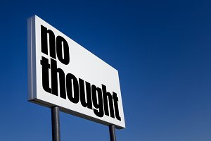 """Message """"No thought"""""""