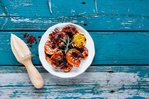 Grilled Prawns Shrimps
