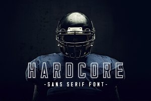 Hardcore | Three Weight Font Family