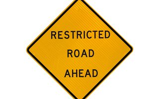 Restricted road sign