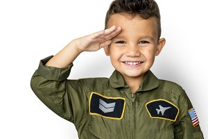 Schoolboy with pilot uniform (PNG)