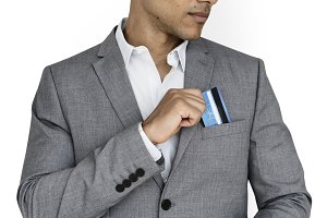 Business Man Credit Card (PNG)