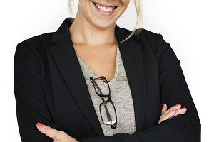 Business Woman Smiling (PNG)