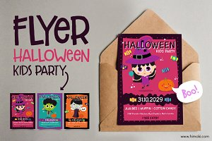 Halloween Flyer-Kids party