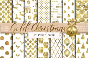 Gold and White Christmas backgrounds