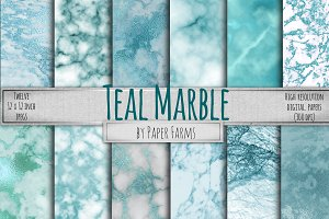Teal marble backgrounds