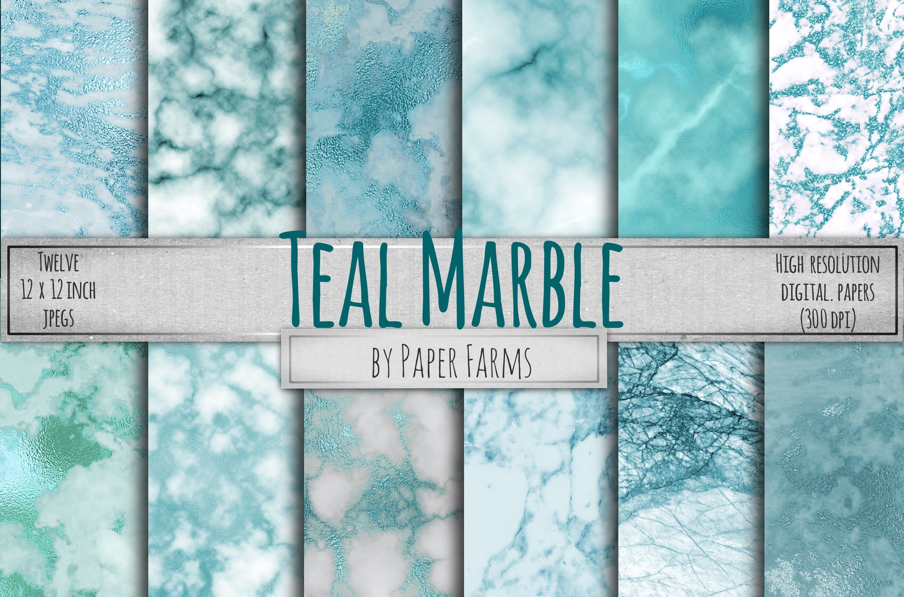 Teal Marble Backgrounds Textures Creative Market