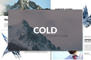Cold Minimal Powerpoint Template