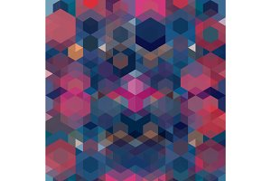 Vector Colorful Hexagon Pattern