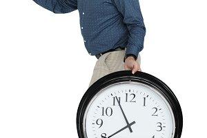 Man Rushing Clock (PNG)
