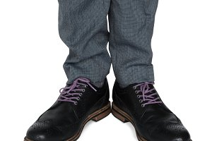 Blue Jeans Black Shoes (PNG)