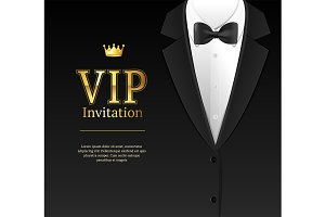 Vip Invitation Bow Tie and Necktie