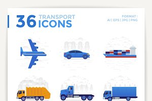36 TRANSPORT ICONS