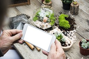 Gardening Background Technology(PNG)