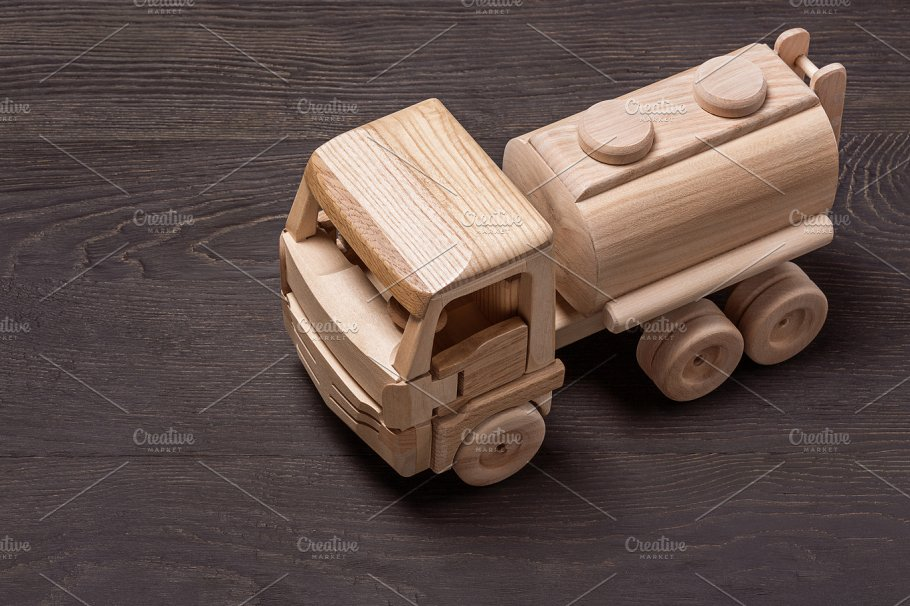 Wooden Toy Car Top View Technology Photos Creative Market